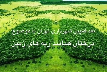 نقد کمپین شهرداری تهران با موضوع؛ درختان همانند ریه های زمین هستند